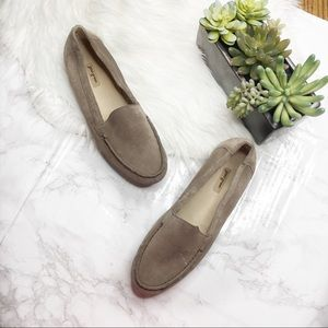 Paul Green Leather Suede Tan Loafer Flats